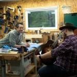 Noah Guthrie and his custom Lichty Guitar-6