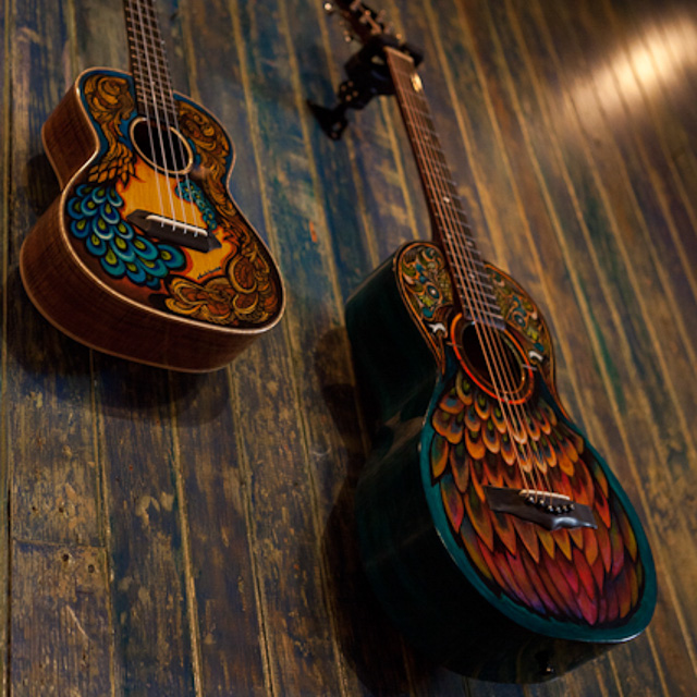 Custom Hand Painted Guitars and Ukuleles