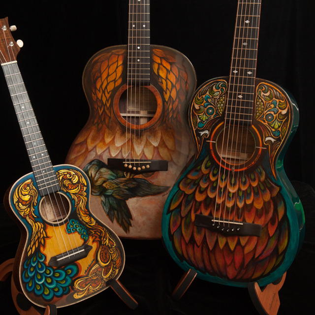 Custom Hand Painted Guitars and Ukulele