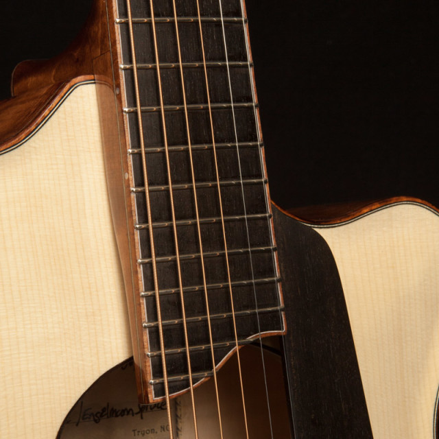 Bound fretboard with purfling
