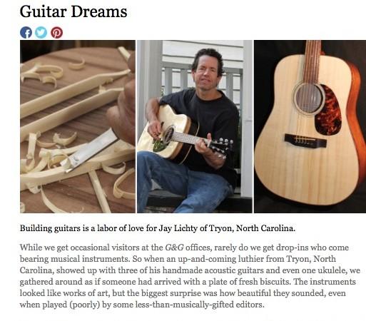 Garden and Gun Lichty Guitars