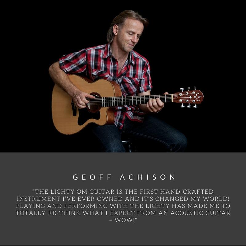 Geoff Achison Custom Lichty Guitars