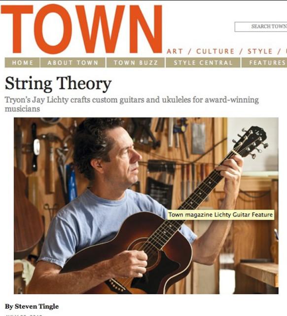 Town Magazine Lichty Guitars feature