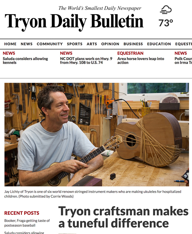 Tryon-Daily-Bulletin-Luthiers-for-a-cause