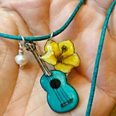 Ukulele Charm Necklace