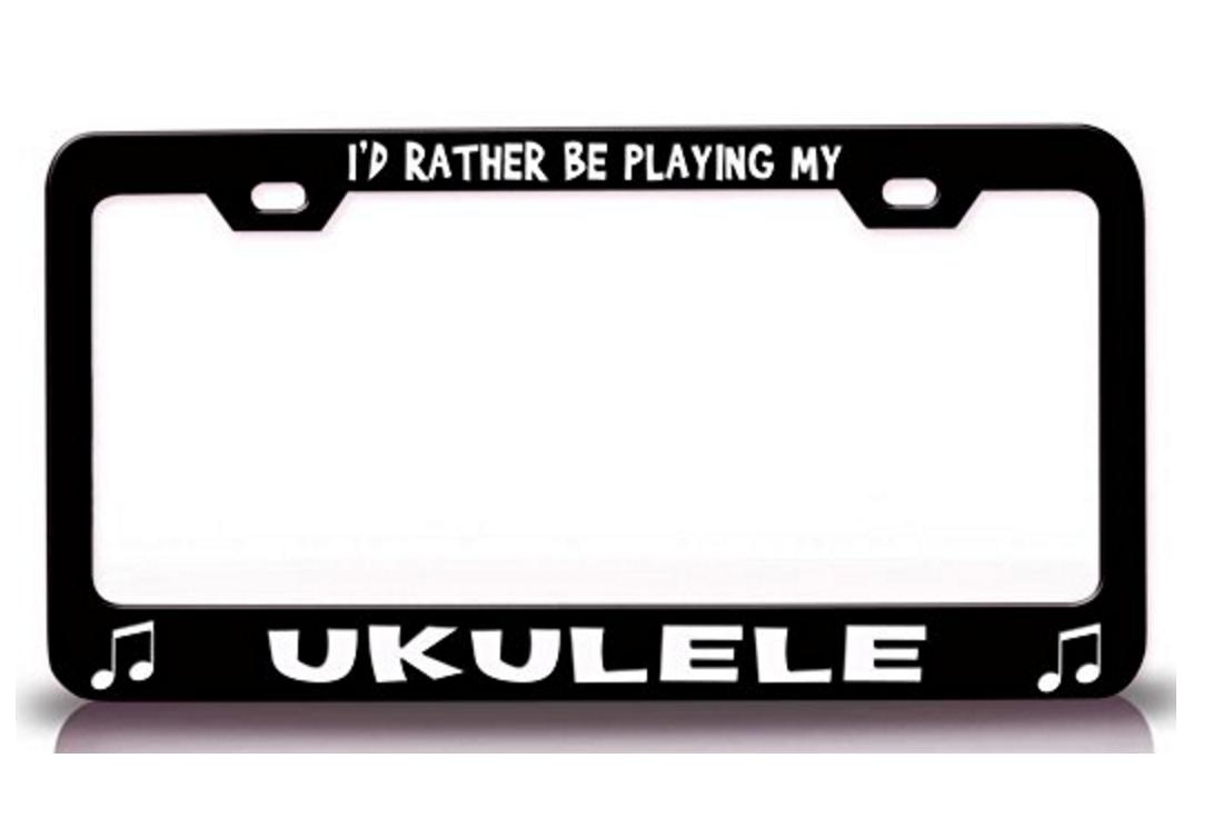 Ukulele License Plate Holder