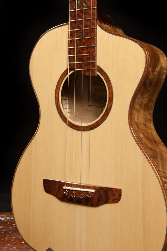 baritone ukulele steel string lichty guitars. Black Bedroom Furniture Sets. Home Design Ideas