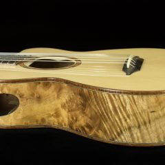 Custom Myrtlewood Baby Bard Gets Strings