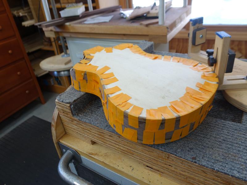 Lichty-Custom-Archtop-Ukulele-Construction-U148